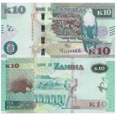 ZAMBIJA 10 KWACHA 2018 P # 64 UNC