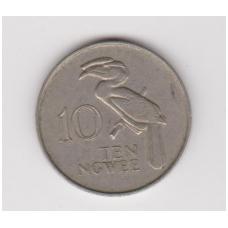 ZAMBIJA 10 NGWEE 1968 KM # 11 VF