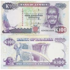 ZAMBIJA 100 KWACHA 1991 P # 34 AU