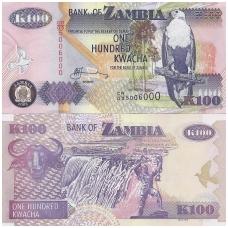 ZAMBIJA 100 KWACHA 2008 P # 38g AU