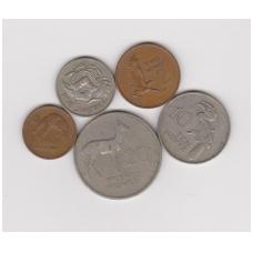 ZAMBIJA 1968 - 1988 m. 5 monetų rinkinukas