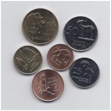 ZAMBIJA 1983 - 1992 m. 6 monetų komplektas