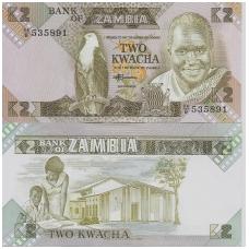 ZAMBIJA 2 KWACHA 1980 - 1988 P # 24c UNC