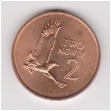 ZAMBIJA 2 NGWEE 1983 KM #10a AU