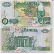 ZAMBIJA 20 KWACHA 1992 P # 36b UNC