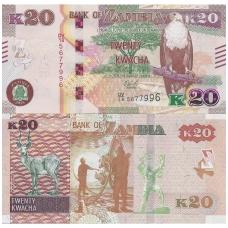 ZAMBIJA 20 KWACHA 2018 P # 65 UNC
