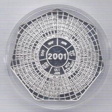 ZAMBIJA 4000 KWACHA 2000 KM # 175 PROOF 2001 m. Kalendorius