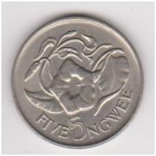 ZAMBIJA 5 NGWEE 1968 KM # 11 AU