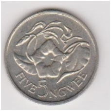 ZAMBIJA 5 NGWEE 1978 KM # 11 XF
