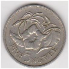 ZAMBIJA 5 NGWEE 1982 KM # 11 VF