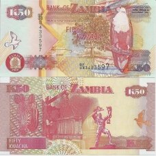 ZAMBIJA 50 KWACHA 2006 P # 37e AU