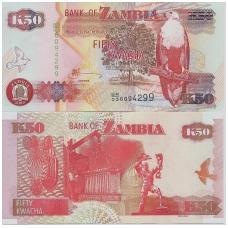 ZAMBIJA 50 KWACHA 2009 P # 37h UNC