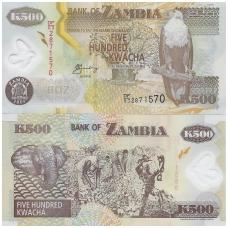 ZAMBIJA 500 KWACHA 2005 P # 43d UNC