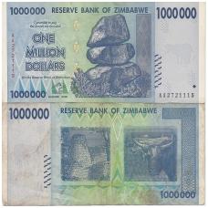 ZIMBABVĖ 1 000 000 DOLLARS 2008 P # 77 VF