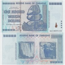 ZIMBABVĖ 100 000 000 000 000 DOLLARS 2008 P # 91 UNC