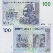 ZIMBABVĖ 100 DOLLARS 2007 P # 69 new UNC