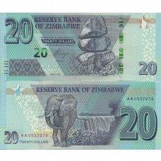 ZIMBABVĖ 20 DOLLARS 2020 P # new UNC
